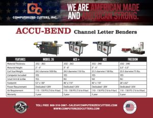 Accu-Bend Product Comparison