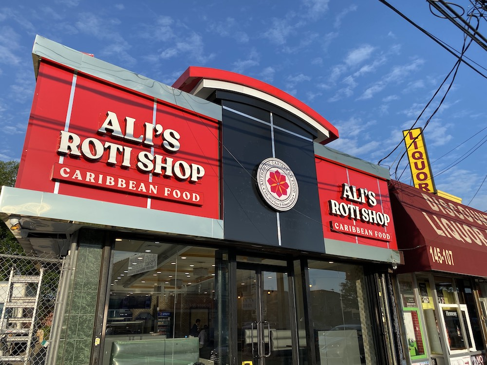 Ali's Roti Shop sign created by Accu-Bend FREEDOM